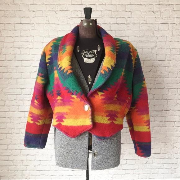 741aaaebb Rhonda stark vibrant southwest blanket crop jacket
